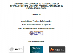 Estudio ATI - Presencia femenina en el empleo tecnológico.